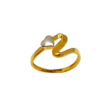 22K Gold Heart Shaped Ring MGA - LRG1054