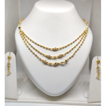 916 Gold Attractive Mala with Earrings JJ-M03 by