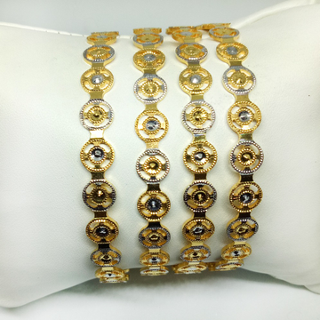 916 Gold Classic Machine Cut Bangles KB-B023