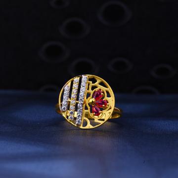 916 Gold Round Shape stylish Ring LR36