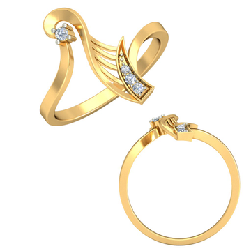 22KT Yellow Gold Chrisanta Ring For Women