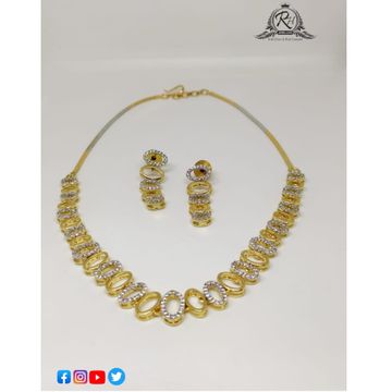 22 carat gold traditional necklace set RH-NS631