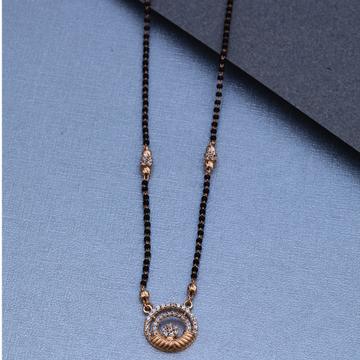 18KT Rose Gold Diamond Simple Mangalsutra