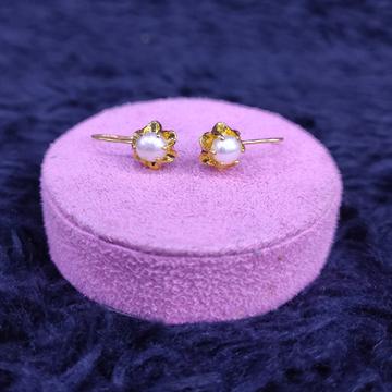 18KT/750 Yellow Gold Fancy Amartya  Hanging Earrings GTB-23