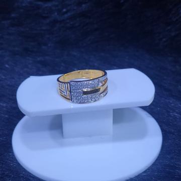 22KT/916 Yellow Gold Oriel Jali Design Rodiyam Fancy Ring For Men