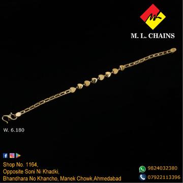 916 Gold Heart Design Lucky Bracelet ML-B11