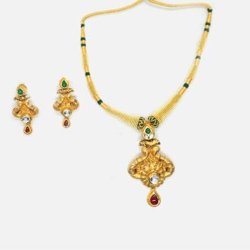 916 Gold Antique Wedding Necklace Set RHJ-4742