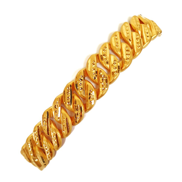 One gram gold plated singapore bracelet mga - bre0011