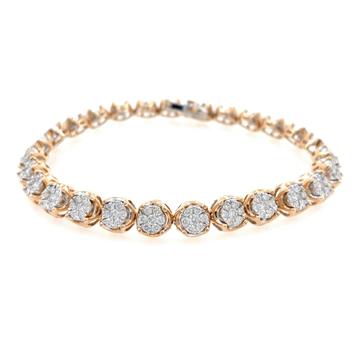 Bellissimo Diamond Tennis Bracelet in Rose Gold 9B...
