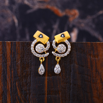 22kt gold classic  women's earring lfe309