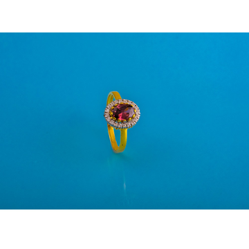 916 gold cz colour stone ring