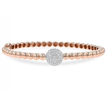 18kt rose gold circle designed trending bracelet for women jkb034