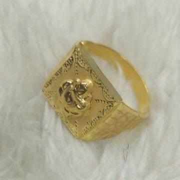 Gold Jents Ring Ganpati Dijain by