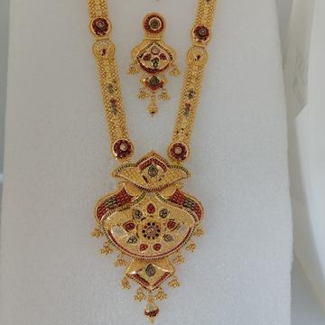 916 gold kalkatti long set by Vinayak Gold