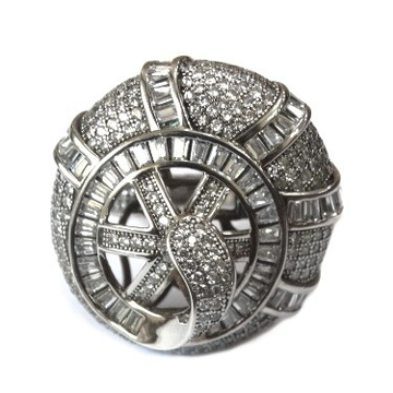 925 Sterling Silver Round Shape Ring MGA - SR0074