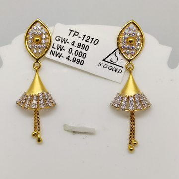 22KT Gold Latkan Earring SOG-E001 by S. O. Gold Private Limited
