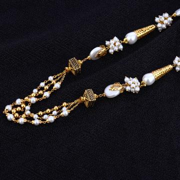 Ladies 22K Designer White Moti Gold Mala-AC116