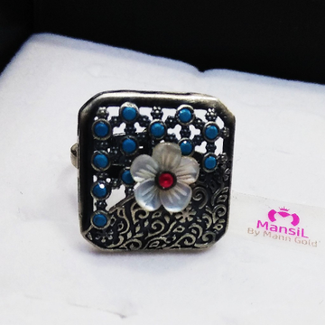 92.5 sterling silver designer antique ring ML-69
