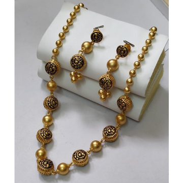 916 Gold antique Moti Mala BJ-M001