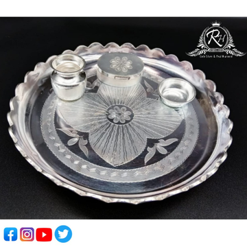 silver pooja thali set RH-PI615
