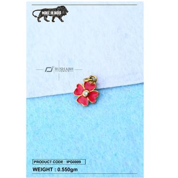 18 carat gold Kids pendent flower ipg0009