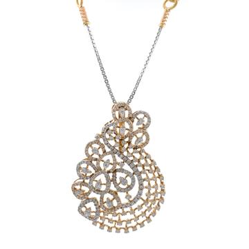 Mirum diamond pendant in 18k rose gold 9shp22