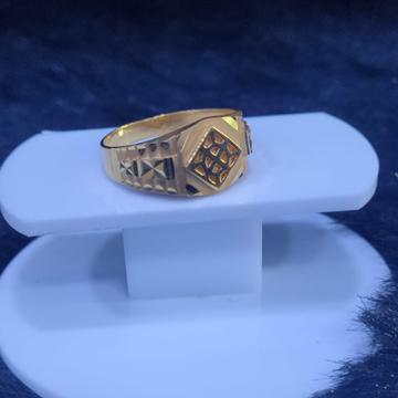 22KT/916 Yellow Gold Laney Plan Ring For Men