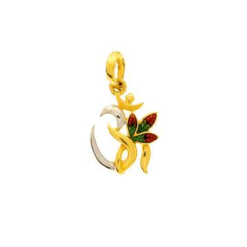 22 carat gold om pendant
