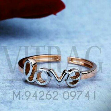 18kt Plain Casting Fancy Ladies Ring LRG -0716