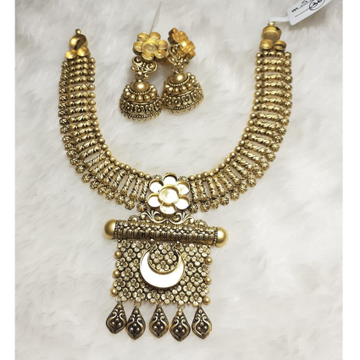 916 Gold Antique Khokha Necklace Set KG-N04