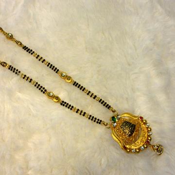 Gold 22k hallmark 916 fancy mangalsutra