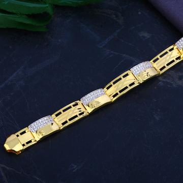 Mens 916 Gold Bracelet-MCB75