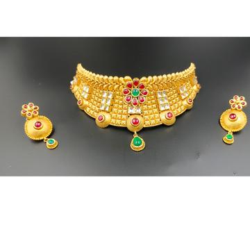 916 gold bridal antique set Choker by Ranka Jewellers