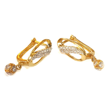 18k gold earrings mga - gb0010