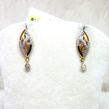 Gold Small Diamond Earring by
