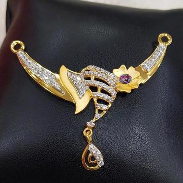 916 Gold 22kt Rubi Diamond Mangalsutra Pendal RH-MSP25