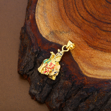 Krishna God Gold Hollow Pendant-HLP87