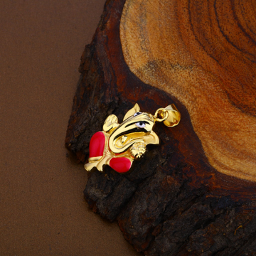 God Ganesha Gold Pendant-HLP102