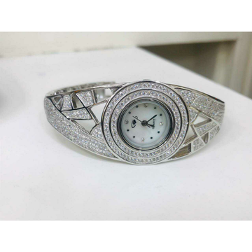 92.5 Sterling Silver New Micro White Dimond Watch... by