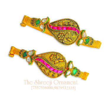916 Gold Leaf Design Jadtar Copper Kadali - 0018