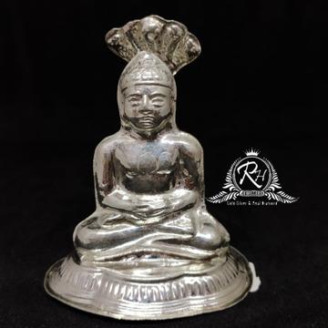 silver jain mahaveer swami murti rh-mt952