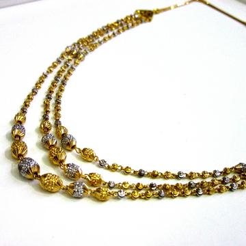 Gold 22k 916 Hallmark 3 Line Mala by