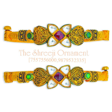 22KT Gold Traditional Jadtar Copper Kadali Bangle - 0021