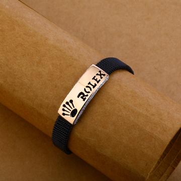 18kt Rose Gold Mens Hallmark Bracelet MLB132