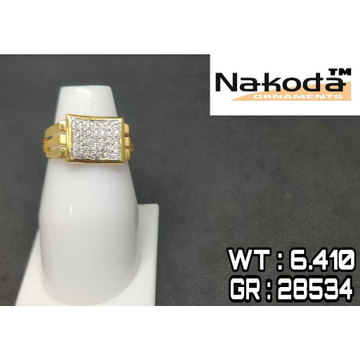 916 Men's multi stone gold ring