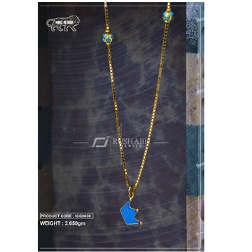 18 carat gold Kids chain pendent king icg0030 by