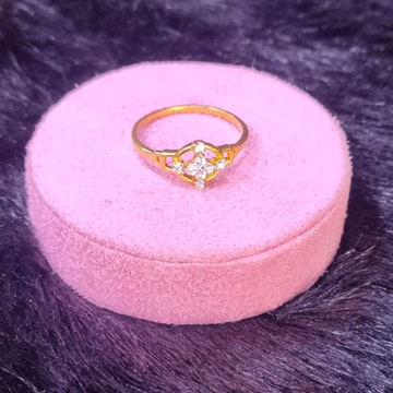 22KT/916 Yellow Gold Elegant Stylish Fancy Ring For Women