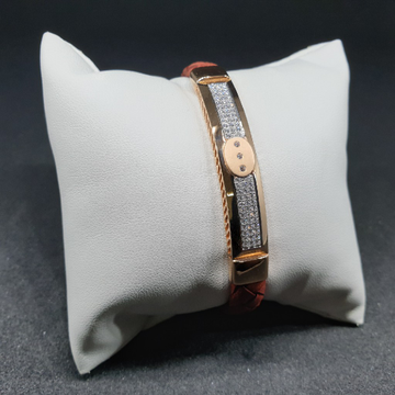 18k rose gold gents bracelet