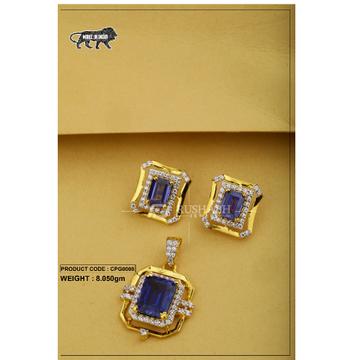 22 carat 916 gold ladies colour stone pendent set cpg0008