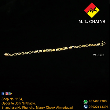 916 Gold Fancy Bracelet ML-B01